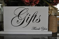 GiFtS SiGn - WeDDiNg TaBLe SiGn - Gift Table Sign by lizzieandcompany, Etsy