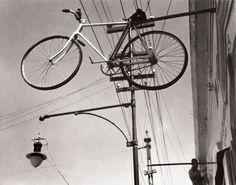 Bicycle Heaven (Bicicleta al cielo /Bicyclette au ciel)  1931  Épreuve gélatino-argentique moderne (modern silver gelatin photograph)  Collection Colette Urbajtel / Archivo Manuel Álvarez Bravo, s.c.  © Colette Urbajtel / Archivo Manuel Álvarez Bravo, s.c.