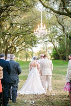 Avenue of Oaks Ceremony // Rustic Chic Legare Waring House Wedding // Dana Cubbage Weddings // Charleston SC + Destination Wedding Photographer