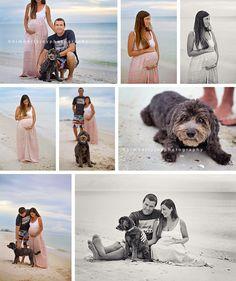 Beach Surfer Inspired Maternity Session with a Dog | Maternity Photos | kimberlyjoyphoto.com | Kimberly Joy Photography