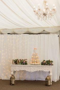 Dee's Maggie Sottero wedding dress is so dreamy! Cake Table, Dessert Table, Irish Wedding, Rustic Wedding, Wedding Desserts, Wedding Cakes, Got Married, Getting Married, Cupcake Tower Wedding