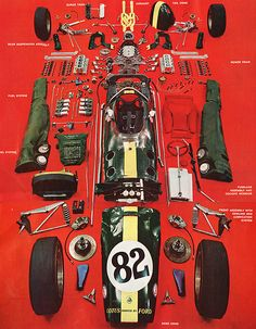 Lotus 33 Formula One Grand Prix car - exploded...