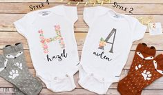 Personalized Baby Gift, Personalized Shirt, Baby Shower Gift, Baby Girl Clothes, Take Home Outfit by LittleFoxNest on Etsy https://www.etsy.com/listing/455003868/personalized-baby-gift-personalized