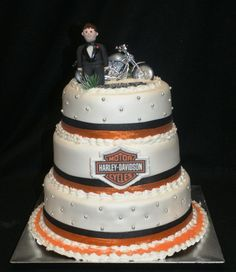 Harley Wedding Cake Topper