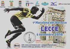 #Maratona di #Lecce 6 novembre 2016 #savethedate