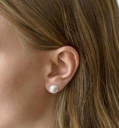Buy Now Clip On Earrings Wedding Jewelry Stud Earrings Pearl. Pearl Stud Earrings, Rose Gold Earrings, Crystal Earrings, Clip On Earrings, Diamond Earrings, Bridal Party Jewelry, Wedding Jewelry, Bridesmaid Earrings, Wedding Earrings