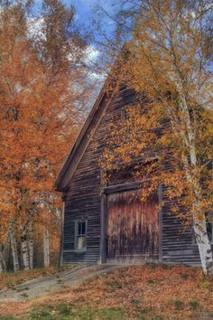 Photograph Autumn Barn - New Hampshire by Vincent James on