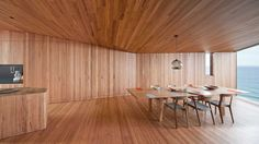Timber Interior || Fairhaven Beach House by John Wardle Architects.