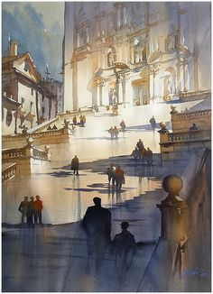 "Very grateful to the Northwest Watercolor Society and to juror, Jeannie McGuire for including my work - ""Steps to the Cathedral, Girona"" - in the 76th Annual International Exhibition. And congrats to all the other selected entries."