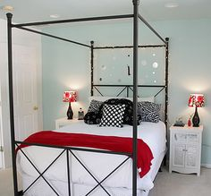 From:  http://yourhomeonlybetter.com/a-blue-tween-room-for-girls/