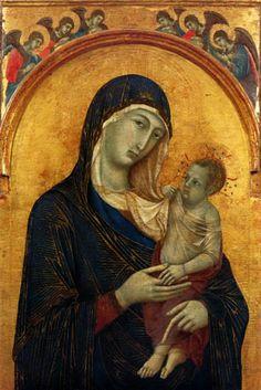 """""""The Perugia Madonna""""  --  Circa 1300-05  --  Duccio di Buoninsegna  --  Italian  --  Tempera & gold on panel  --  Galleria Nazionale dell'Umbria, Perugia."""