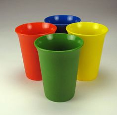 Tupperware tumblers from the 80's.  Used them with sippy lids when my kids were small.