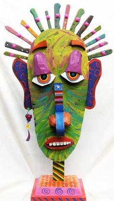 One Sharp Guy Folk art Sculpture Mixed by RaintreeDesignStudio, $225.00