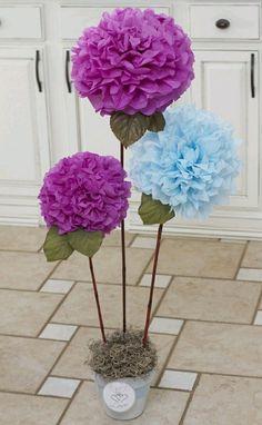 Resultado de imagen para centro de flores grandes de papel