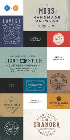 Logo/Badge Templates Vol.2 on Behance