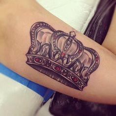 Crown Tattoo put some roses or something in there and its perfect. ruby stones for my birthstone
