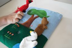 Wonderful idea for story time - 3 Bags Full - finger puppets in a pouch!