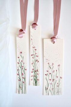 Watercolor Bookmarks, Watercolor Cards, Watercolor Flowers, Watercolour, Creative Bookmarks, Diy Bookmarks, Bookmark Craft, Ideias Diy, Doodle Art