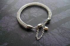 Silver Viking Knit Bracelet with Pearl Charm On Sale by Suzjewelry, $19.00