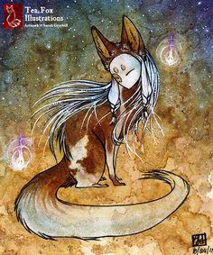 Kitsune by Tea Fox illustrations - Sarah Greybill                                                                                           More