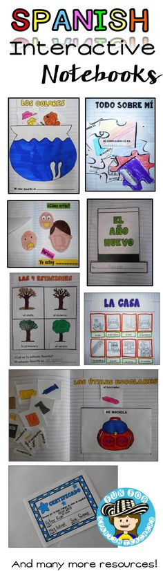 In this product you will all everything you need to have an awesome school year… Spanish Lessons For Kids, Learning Spanish For Kids, Spanish Teaching Resources, Spanish Lesson Plans, Spanish Interactive Notebook, Interactive Student Notebooks, Elementary Spanish, Spanish Classroom, Spanish Teacher