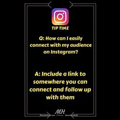 Tip time: Question: How can I connect with my audience on Instagram   Answer: Include a link to somewhere you can follow up with them! This can be a link to your website a capture page a funnel a Facebook group... It's up to you! Just make sure it's somewhere you can connect and follow up   Did you find value in this tip? Hit  and leave a comment. Do you want more awesome tips about building a business online? JOIN my FB-community! I would love to welcome you in there!  CLICK LINK IN BIO…