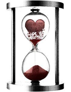 crumbling heart  hourglass