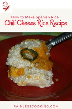 How to Make Spanish Rice Cheese Rice, Melted Cheese, Spanish Rice Recipe, How To Cook Everything, Best Mexican Recipes, Saute Onions, Mexican Dishes, Easy Cooking, Soup And Salad