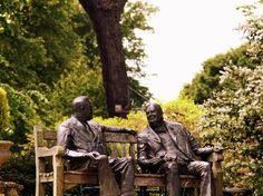 Statue of Churchill at Priory Bay Hotel, Seaview, Isle of Wight