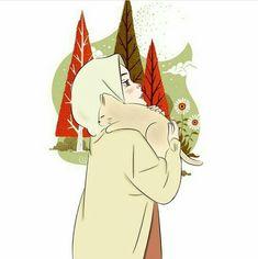 Anime Scenery Wallpaper, Cartoon Wallpaper, Girl Cartoon, Cartoon Art, Muslim Pictures, Hijab Drawing, Islamic Cartoon, Anime Muslim, Hijab Cartoon