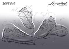 Guillaume MARTIN // Footwear design shoes sketche