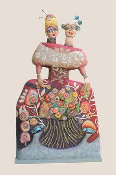 """ADORE! Sculpture Odile Mandrette  """"Les points communs"""""""
