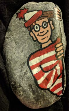 Where's Waldo by Martin Handford. Picture books. Painted rocks. #DBRLRocks