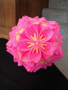 Cherry Blossom Kusudama. This is SO cool. But as you can see by the $60 price, it took a long time to make..