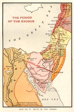 Map: Route of the Exodus