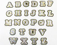 A-Z Letter Rhinestone Alphabet Applique 3D Iron On Patch Clothes Shoes Patches✿