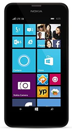 """AT&T Nokia Lumia 635 - No Contract GoPhone. RPR: $100; PRICE: $40 (FREE Shipping). You SAVE: $60 (60%). BEAUTIFUL 4.5"""" ClearBlack LCD Display; 480x854 resolution 221 PPI; 8 GB storage; 512 MB RAM (Expandable); 5 MP Camera with 720p HD Video and Autofocus; 1.2 GHz Quad core CPU. """"EXCELLENT Performance and VALUE!"""" – Jerry Palmerino Jr. MORE via: http://sd4shila.creativesolutionstore.com OR http://astore.amazon.com/50010-20?node=1&page=5"""