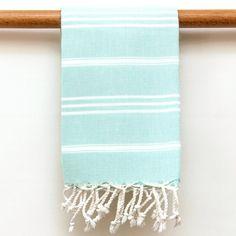 Striped Hand Towel Aqua by Antiochia