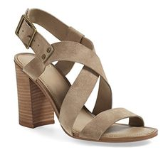 Franco Sarto Womens Sabine Heel Sandal Sandstone Size 65 -- Continue to the product at the image link.