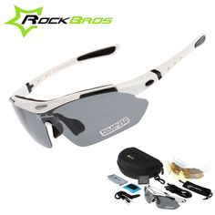 Hot! RockBros Polarized Cycling Sun Glasses Outdoor Sports Bicycle ciclismo Road Bike MTB Sunglasses TR90 Goggles Eyewear 5 Lens