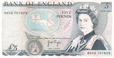 Old five pound note