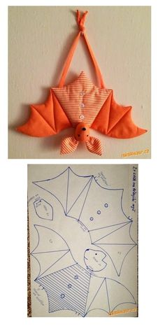 Halloween bats.  There are no instructions, but if you know how to sew, it's pretty self explanatory.