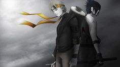 Naruto Sasuke Shippuden Black and White