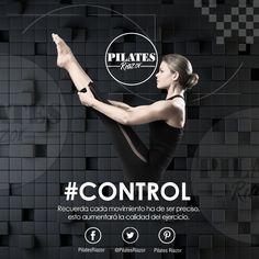 Control  Para el Pilates el control es una pieza fundamental para conseguir la calidad del movimiento. Se busca la efectividad sin la necesidad de sudar en exceso ni tampoco agitarte mucho. Los movimientos deben de ser precisos, incluyendo otros principios fundamentales del Pilates, como la respiración y concentración.  Recuerda cada movimiento ha de ser preciso, esto aumentará la calidad del ejercicio.