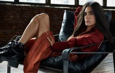 Jennifer Connelly wears a cool combat boots on Grazia Magazine December 2015 issue Photoshoot