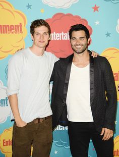 Daniel Sharman (Isaac Lahey) & Tyler Hoechlin (Derek Hale ) from Teen Wolf