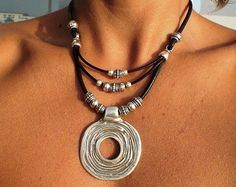 Brown necklace necklaces for women statement necklaces by kekugi