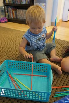 I have had SO many friends asking recently what to do with the littlest ones while they homeschool the bigger ones so that THIS doesn't happ...