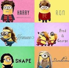 Harry Potter meets minions! hahah I love this!!!! I am literally obsessed with all things despicable me and Harry potter!