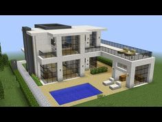 Minecraft – How to build a modern mansion 2 – Modern Minecraft Houses, Minecraft Mansion, Minecraft Houses Survival, Minecraft Plans, Minecraft Room, Minecraft City, Minecraft Houses Blueprints, Minecraft House Designs, Minecraft Architecture